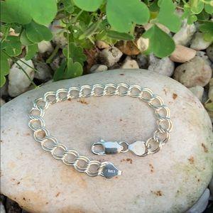 Sterling Silver Link Bracelet for Charms